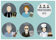 Profession people. Set 8 Royalty Free Stock Image