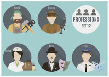 Profession people. Set 12 Stock Photo