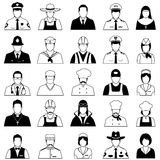 Profession people uniform, royalty free illustration