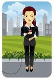 Profession series: Reporter royalty free illustration