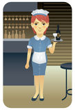 Profession series: Waitress Royalty Free Stock Images