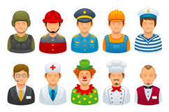 Profession set Royalty Free Stock Images