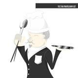 Profession set, chef cartoon Royalty Free Stock Photos