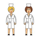 Profession set :  female doctors Royalty Free Stock Images
