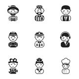 Profession set icons in black style. Big collection of profession vector symbol  Royalty Free Stock Photos