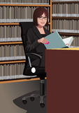 Profession set: secretary Stock Photography