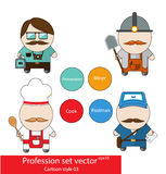 Profession set vector Stock Images