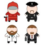 Profession and stuff characters set Royalty Free Stock Photography