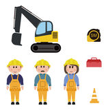 Profession, travailleur de la construction Image stock