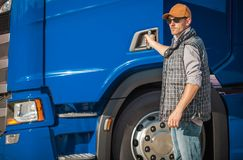 Profession Truck Driver stock image