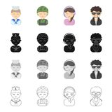 Profession, vocation, hobby and other web icon in cartoon style.Grouping, clothing, textiles, icons in set collection. Profession, vocation, hobby and other Royalty Free Stock Photography