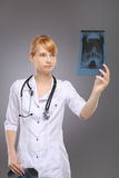 Profession, a woman doctor Royalty Free Stock Image
