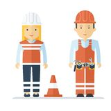 Profession worker man and woman Stock Photo