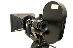 Professional 35 mm the movie camera. royalty free stock photos