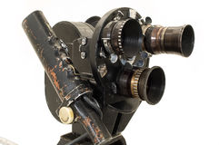 Professional 35 mm the movie camera. Professional 35 mm the film-chamber on a white background Stock Image