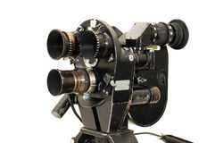 Professional 35 mm the movie camera. Professional 35 mm the film-chamber on a white background Royalty Free Stock Images