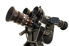 Professional 35 mm the movie camera. Royalty Free Stock Photo