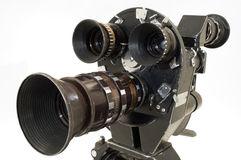 Professional 35 mm the movie camera. Professional 35 mm the film-chamber on a white background Stock Photo