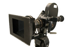 Professional 35 mm the movie camera. Professional 35 mm the film-chamber on a white background Stock Images