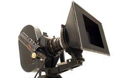 Professional 35 mm the movie camera. Stock Photo
