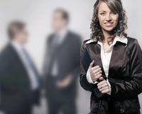 Professional. A modern portrait of a young professional businesswoman stock images