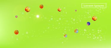 Professional abstract ultra wide space background royalty free illustration