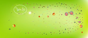 Professional abstract ultra wide space background stock illustration