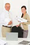 Professional architect people behind office table Royalty Free Stock Photo