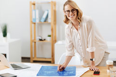 Professional architect preparing the draft in the art studio Stock Photos