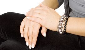 Professional art manicure Royalty Free Stock Photo