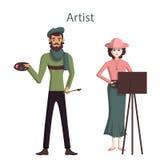 professional artists. Stock Photo