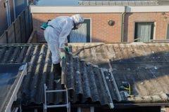 Professional asbestos removal royalty free stock photos