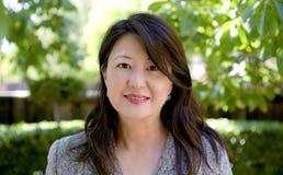 Professional asiatisk lady Fotografering för Bildbyråer