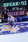 Bboy Mazzz and Bboy Kolobok Stock Photo