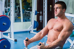 A professional athlete in the gym Royalty Free Stock Photography