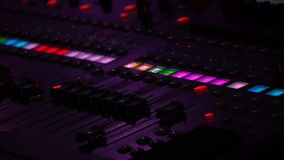 Professional Audio Console In A Concert stock video
