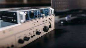 Professional audio engineering equipment, closeup Royalty Free Stock Photography