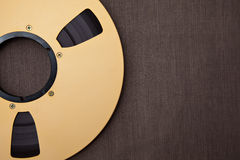 Professional audio metal reel Stock Image