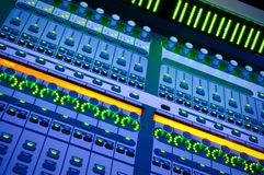 Professional audio mixer. Desk at he Concert royalty free stock photo