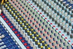 Professional Audio Mixer. In studio stock illustration