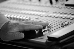 A professional audio mixer Royalty Free Stock Photo