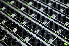 Professional audio mixer Royalty Free Stock Images