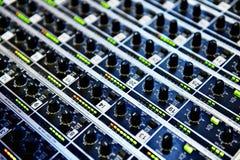 Professional audio mixer Royalty Free Stock Photos