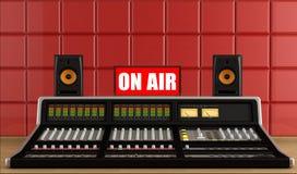 Professional audio mixer in a recording studio Stock Images