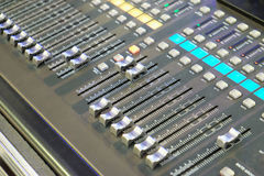 Professional audio mixing console. Stock Image