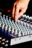 Professional audio mixing console Stock Photos