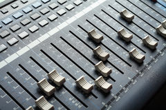 Professional audio mixing console. Recording studio equipment Stock Images