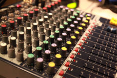 Professional audio mixing desk console Stock Images
