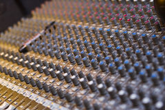 Professional audio musical mixer Royalty Free Stock Images