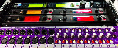 Professional audio sound equipment Stock Images
